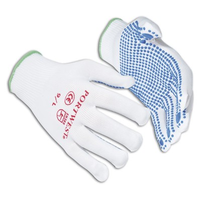 Portwest A110 Nylon Polka Dot Glove Pkt 12