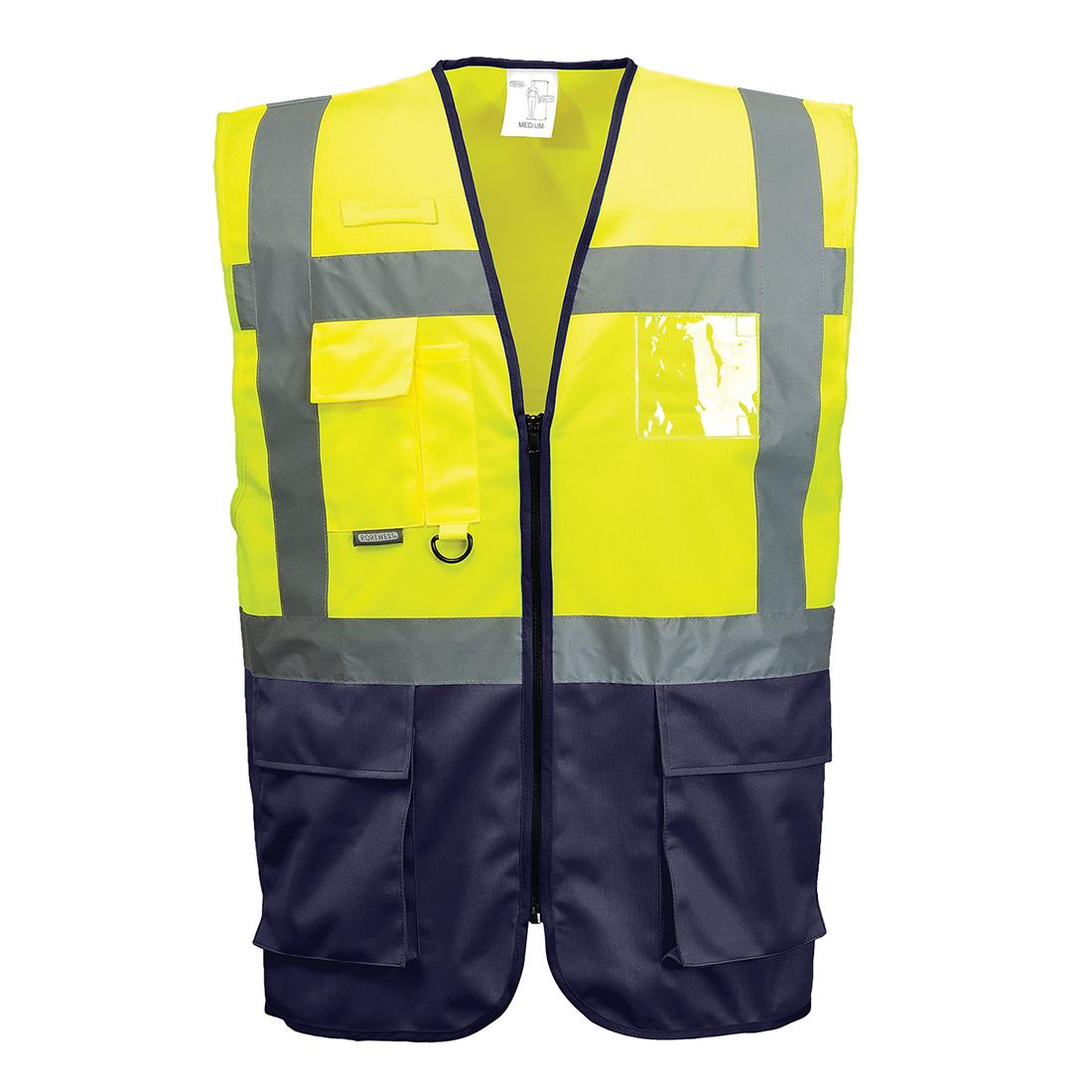 Portwest C497 High Visibility Hi-Vis Polycotton Safety Vest Orange or Yellow