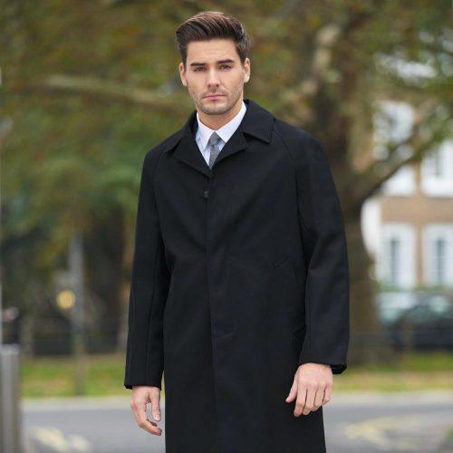 Whipcord Raincoat Black