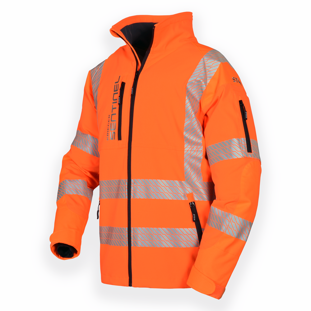 DBlade Hi-Visibility Mens Winter Work Jacket Heavy Duty Protection Workwear