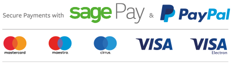 Secure payments via Paypal and Sage Pay