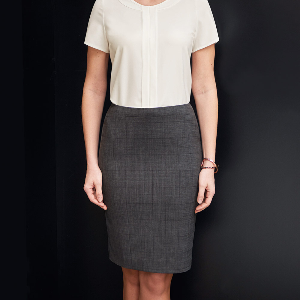 Signature Collection Numana Charcoal Skirt