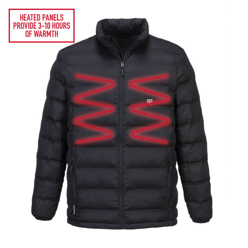 S547 Tunnel Jacket with heated panels to front for warmth and comfort