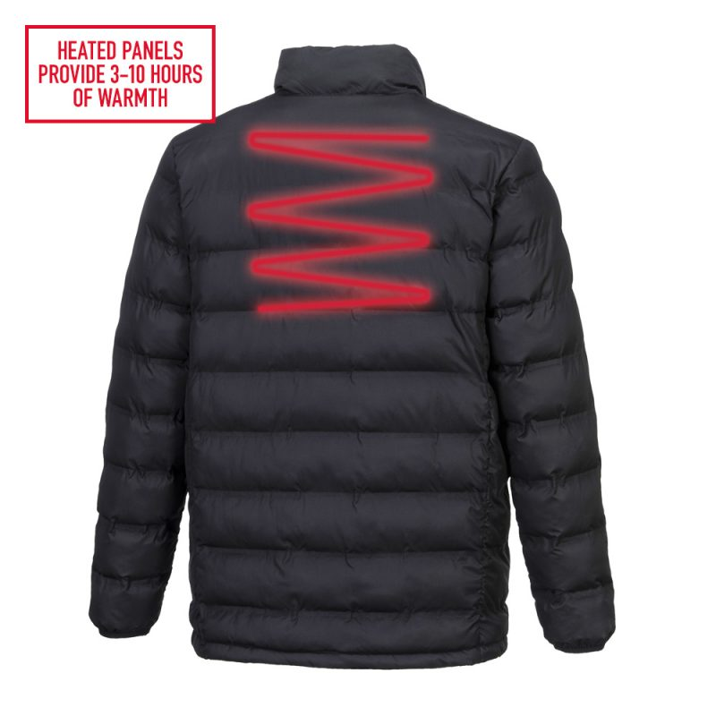 S547 Tunnel Jacket with heated panels for back warmth