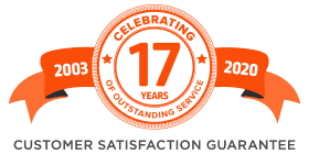2003-2020 Celebrating over 17 Years of Customer Satisfaction