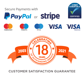 Secure payments via Paypal and Stripe