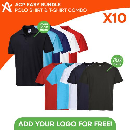 ACP Easy Bundle 10x Tees and Polos