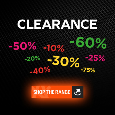 clearance range now available - bag a bargain